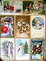 Collection of antique greeting cards at Orange Empire Railway Museum. Perris, CA.