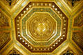City Hall Board of Supervisors chambers ceiling detail. San Francisco, CA.