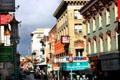 Italianate buildings converted to Chinese decorations along Grant Avenue in Chinatown. San Francisco, CA.