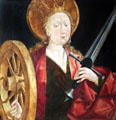 St Catherine of Alexandria painting by Frederick Pacher of Austria at Legion of Honor Museum. San Francisco, CA.