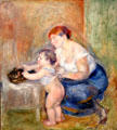 Mother & Child painting by Pierre-Auguste Renoir at Legion of Honor Museum. San Francisco, CA.