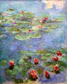 Water Lilies painting by Claude Monet at Legion of Honor Museum. San Francisco, CA.