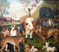 Peaceable Kingdom painting by Edward Hicks at de Young Museum. San Francisco, CA.