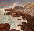 Seaweed & Surf, Appledore, at Sunset painting by Frederick Childe Hassam at de Young Museum. San Francisco, CA.