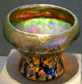 Favrile glass Lava vase by studio of Louis Comfort Tiffany at de Young Museum. San Francisco, CA.