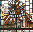 Stained glass Santa Cruz Mission