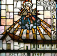 Stained glass Suestra Señora de la Soledad
