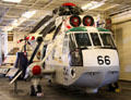 SH-3 SeaKing Astronaut recovery helicopter for Gemini & Apollo space missions by Sikorsky Aircraft at USS Hornet. Alameda, CA.