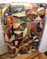 Sugg family crazy quilt at Tuolumne County Museum. Sonora, CA