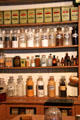 Display of medicinal jars & tins in drug store at Columbia State Historic Park. Columbia, CA.