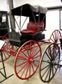 Piano Box Buggy, most popular carriage ever built & named for its shape & designed to withstand hard service at Angels Camp Museum. Angels Camp, CA.