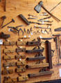Antique planes & other woodworking tools at Angels Camp Museum. Angels Camp, CA.