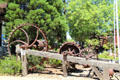 Three waterwheels at El Dorado County Historical Museum. Placerville, CA.