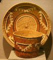 Native basketry cup & saucer made for tourists at Siskiyou County Museum?. Yreka, CA.
