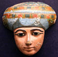 Painted coffin face at Rosicrucian Egyptian Museum. San Jose, CA.