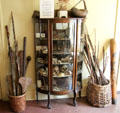 Curio cabinet with curiosities from around the world at Pardee Home Museum. Oakland, CA.
