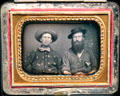 Two Miners with Gold Nugget Stick-Pins daguerreotype at Oakland Museum of California. Oakland, CA.