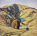 Hill of Sun, San Anselmo, CA painting by Childe Hassam at Oakland Museum of California. Oakland, CA.