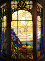 Franc Pierce Hammon Memorial stained glass windows by Arthur F. Mathews at Oakland Museum of California. Oakland, CA.