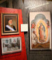 Display of Mexican history with portrait of Mexican Emperor Agustin de Iturbide & religious paintings at Oakland Museum of California. Oakland, CA.