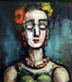 Portrait of a Woman painting by Georges Rouault at Denver Art Museum. Denver, CO.