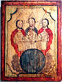 Holy Trinity painting by José Aragón at Colorado Springs Fine Arts Center. Colorado Springs, CO.