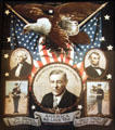 Woodrow Wilson on poster for Brave Boys of World War I at Pueblo Union Depot Museum. Pueblo, CO.