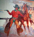 Cowboy illustration for magazine cover by Arthur Roy Mitchell at A.R. Mitchell Museum of Western Art. Trinidad, CO.