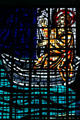 Christ in a boat stained glass of St. Joseph Cathedral. Hartford, CT.