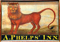 A. Phelps' Inn sign by William Rice at Connecticut Historical Society. Hartford, CT