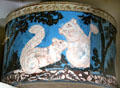 Antique hatbox with squirrels at Phelps-Hathaway House. Suffield, CT.