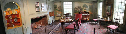 Panorama of parlor of Joseph Webb House. Wethersfield, CT.