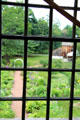 View of garden of Joseph Webb House from upstairs window. Wethersfield, CT.