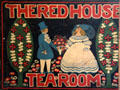 Sign of The Red House Tea Room which once operated in Thankful Arnold House. Haddam, CT.