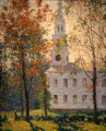 Village Church painting by Everett L. Warner at Florence Griswold Museum. Old Lyme, CT.