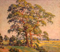 Pepperidge Trees painting by William Chadwick of Old Lyme art colony at Mattatuck Museum. Waterbury, CT.