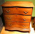 Chest of drawers attrib. to Bates How of Canaan, CT at Mattatuck Museum. Waterbury, CT.