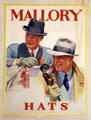 Mallory Hats poster at Danbury Museum & Historical Society. Danbury, CT.