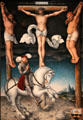 Crucifixion with Converted Centurion painting by Lucas Cranach the Elder of Germany at Yale University Art Gallery. New Haven, CT.