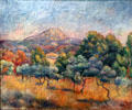 Mount Sainte-Victoire painting by Pierre-Auguste Renoir of France at Yale University Art Gallery. New Haven, CT.