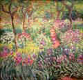 Artist's Garden in Giverny painting by Claude Monet of France at Yale University Art Gallery. New Haven, CT.