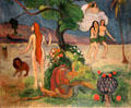 Paradise Lost painting by Paul Gauguin at Yale University Art Gallery. New Haven, CT.
