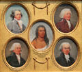 Miniature portraits of Giuseppe Ceracchi, Tristram Dalton, Six Nations Chief Young Sachem, Theodore Sedgwick & Oliver Ellsworth by John Trumbull at Yale University Art Gallery. New Haven, CT.