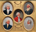 Miniature portraits of William Loughton Smith, Rufus Putnam, Jacob Read, Ralph Izard, & John Faucheraud Grimké by John Trumbull at Yale University Art Gallery. New Haven, CT.