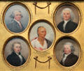 "Miniature portraits of Jonathan Trumbull, Jr., Jonathan Trumbull, Sr., Oneida Chief ""Good Peter"", Lemuel Hopkins, & John Trumbull by John Trumbull at Yale University Art Gallery. New Haven, CT."