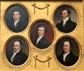 Miniature portraits of Thomas Jackson Oakley, Henry Williams Dwight, US VP John Caldwell Calhoun, William Allen, & David Bayard Ogden by John Trumbull at Yale University Art Gallery. New Haven, CT.