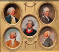 Miniature portraits of Thomas Mifflin, Samuel Livermore, Laurence Manning, Richard Butler, & Arthur Lee by John Trumbull at Yale University Art Gallery. New Haven, CT.