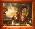 Peaceable Kingdom & Penn's Treaty painting by Edward Hicks at Yale University Art Gallery. New Haven, CT.