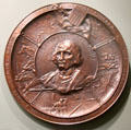 Columbian Exposition copper wall plaque by Domenico A. Tonelli of Paris at Knights of Columbus Museum. New Haven, CT.