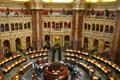 Great hall of Library of Congress. Washington, DC